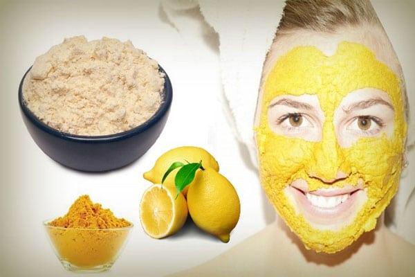 Cách làm mặt nạ tinh bột nghệ chanh trị mụn