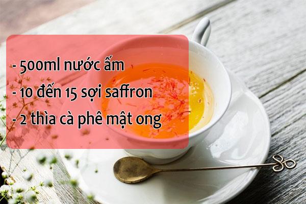 Cách uống saffron cùng với mật ong