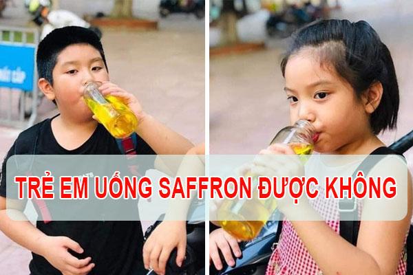 Nhụy hoa nghệ tây trẻ em uống được không