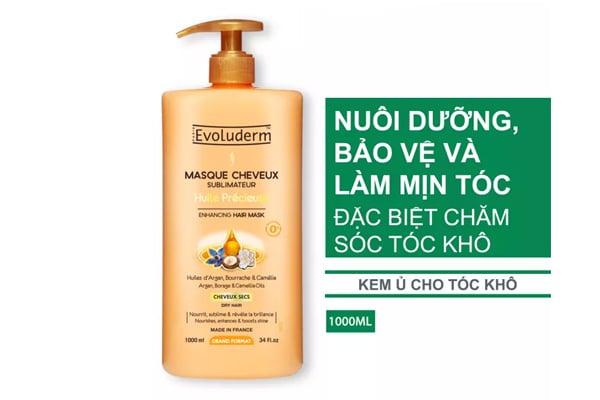 Kem ủ tóc giúp phụ hồi tóc hư tổn Masque Cheveux Huile Précieuse Evoluderm