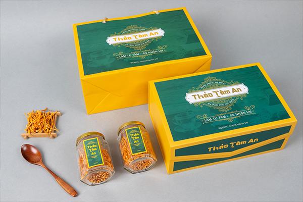 Bộ sản phẩm quà tặng Đông Trùng Hạ Thảo Thảo Tâm An